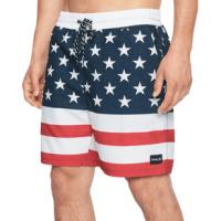Hurley Patriot Volley Board Shorts - Men's XL Gym Red 18