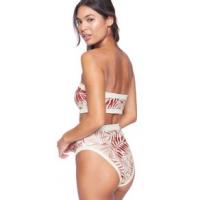 Hurley Block Party High Waist Bikini Bottom S Cedar Multi