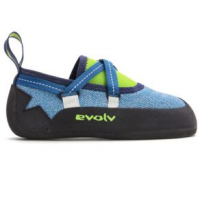 Evolv Venga Climbing Shoe - Kid's 12Y Blue/Neon Lime Regular