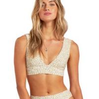 Billabong Summer Love Plunge Bikini Top - Women's S Cool Wip
