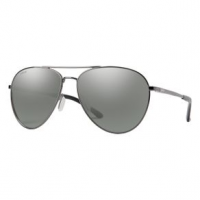 Smith Layback Chromapop Sunglasses - Women's Platinum Mirror Dark Ruthenium Polarized