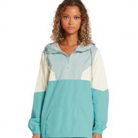 Volcom Wind Stone Color Blocked Jacket - Women's M Aqua