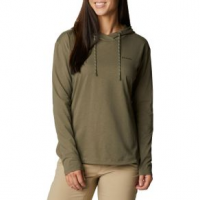 Columbia Sun Trek Hooded Pullover - Women's S Stone Green