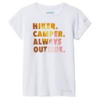 Columbia Sasse Ridge Graphic T-shirt - Girls' XS White/Hiker Ca