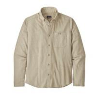 Patagonia Vjosa River Pima Long-Sleeved Shirt - Men's M Pumice