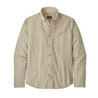 Patagonia Vjosa River Pima Long-Sleeved Shirt - Men's L Pumice