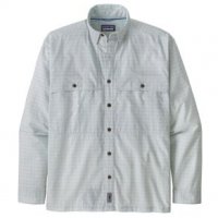 Patagonia Island Hopper Long Sleeve Shirt - Men's S Voyage/Fin Blue