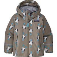 Patagonia Torrentshell 3L Jacket - Toddler 4T Blue Prints/Furry Taupe