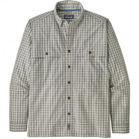 Patagonia Island Hopper Long Sleeve Shirt - Men's M Voyage/Dyno White