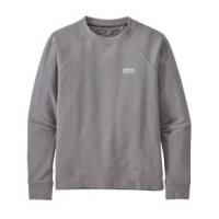 Patagonia Pastel P-6 Label Organic Crew Sweatshirt - Women's XL Salt Grey