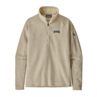 Patagonia Better Sweater 1/4 Zip Fleece Jacket - Women's L Oyster White