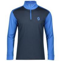 Scott Defined Merino Long Sleeve Zip Shirt - Men's XL Skydive Blue/Dark Blue