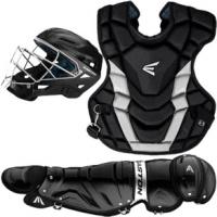 Easton Intermediate Gametime Catcher's Gear Set ADULT Black/Silver