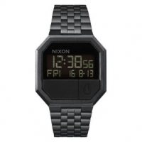 Nixon Re-Run Watch One Size All Black
