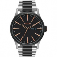 Nixon Sentry SS Watch One Size Black / Rose Gold