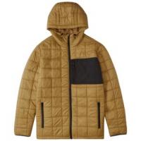 Billabong Journey Hooded Zip-up Puffer Jacket - Men's M Nutmeg