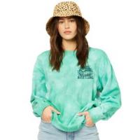 Billabong After Surf Tie-dyed Crewneck Sweatshirt - Women's S Emerald