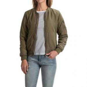 JACHS Girlfriend NY Cropped Bomber Jacket (For Women)