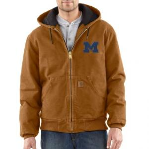 Carhartt Collegiate Sandstone Active Jacket - Quilt Lined, Factory Seconds (For Big and Tall Men)