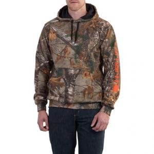 Carhartt Midweight Camo Sleeve Logo Hooded Sweatshirt (For Men)