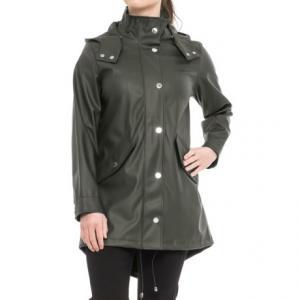 London Fog Slicker Rain Coat - Snap-Off Hood (For Women)