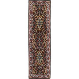 Safavieh Heritage Collection Charcoal and Ivory Floor Runner - 2?3?x8?, Hand-Tufted Wool