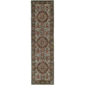Safavieh Heritage Collection Green and Gold Floor Runner - 2?3?x8?, Hand-Tufted Wool