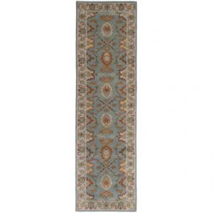 Safavieh Heritage Collection Grey and Charcoal Floor Runner - 2x3?x8?, Hand-Tufted Wool