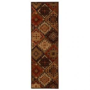Rizzy Home South-West Collection Green Floor Runner - 2?6?x8?, Wool