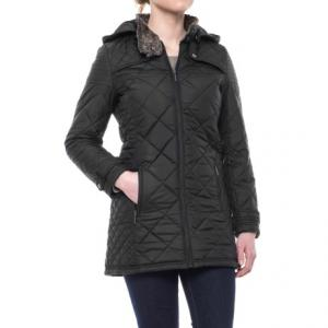 Weatherproof Quilted Faux-Fur City Walker Coat - Insulated (For Women)
