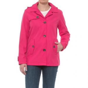 Hooded Topper Jacket - Button Front (For Women)