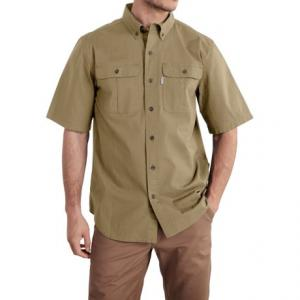 Foreman Solid Work Shirt - Short Sleeve (For Big and Tall Men)