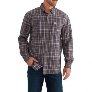 Trumbull Plaid Flannel Shirt - Long Sleeve (For Big and Tall Men)