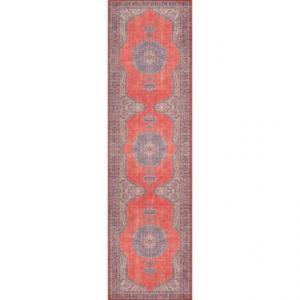 Red Flat-Weave Medallion Floor Runner - 2?3?x7?6?