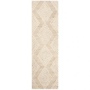 Diamond-Pattern Floor Runner - 2?3?x8?, Hand-Tufted Wool