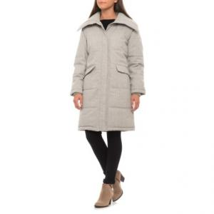 Plaid Puffer Coat - Insulated (For Women)