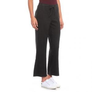 Black Drawstring Ankle Pants (For Women)