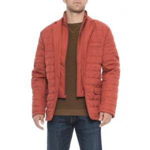 Quilted Jacket with Elbow Patches - Insulated (For Men)