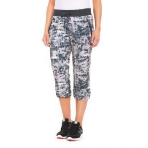 Printed Stretch Woven Capris (For Women)