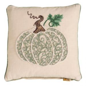 French Knot Pumpkin Throw Pillow - 18x18?, Feathers