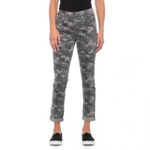 Quiet Shade High Rise Camo Jeans - Slim Straight (For Women)