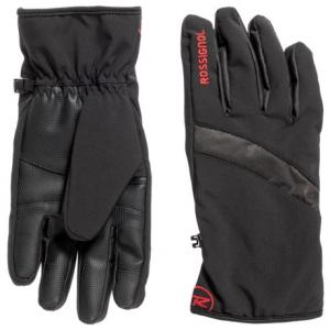 Soft Shell Pieced Back Digital Palm Gloves - Insulated (For Men)