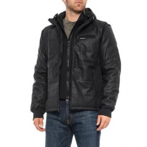 Grid Quilted Bomber Jacket - Insulated (For Men)