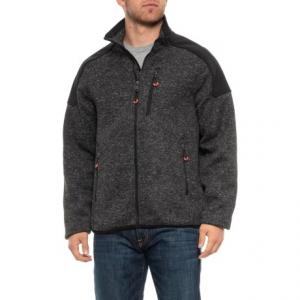 Sweater-Knit Combo Jacket (For Men)
