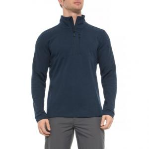 Bi-Stretch Twill Zip Neck Shirt - Long Sleeve (For Men)