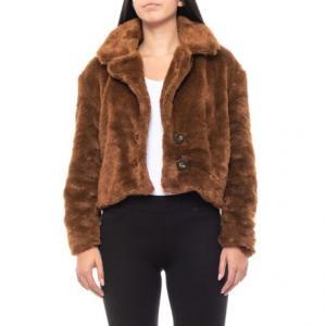 Brown Mena Faux-Fur Coat (For Women)