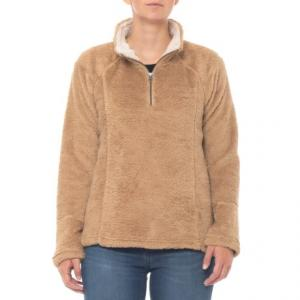 Vintage Old Gold Double-Face Fleece Jacket - Zip Neck (For Women)