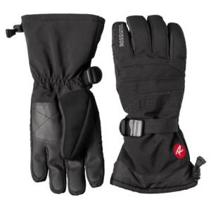 Soft Shell Embroidered Ski Gloves - Waterproof, Insulated (For Men)