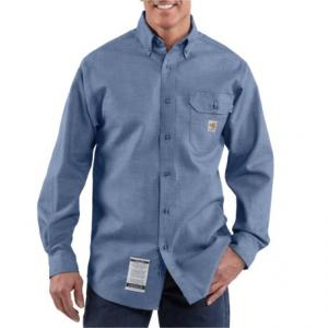 FR Chambray Shirt - Long Sleeve, Factory Seconds (For Big and Tall Men)