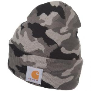 Knit Camo Watch Beanie (For Men)